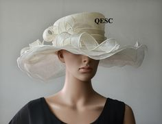 d6db69b4f15 Cream Wedding Hats Promotion-Shop for Promotional Cream Wedding ... Sinamay  Hats