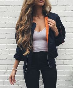 Image result for bomber jacket style