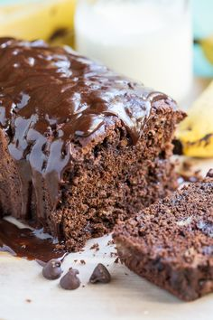 Triple Chocolate Banana Bread - this is banana bread for chocolate ...