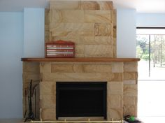 Elite Sandstone offers stunning sandstone pavers, hearth pavers and fireplace cladding. Hearth pavers come in a range of shapes and sizes. Are you looking for sandstone pavers? Contact us for high quality elegant sandstone tiles and pavers. Mountain House, Outdoor Fireplace, Gas Fireplace, Sandstone Fireplace, Trending Decor, Sandstone, Stone Feature Wall, Fireplace Hearth, Fireplace