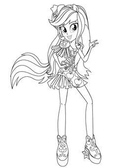 My Little Pony Equestria Girl Boyama Ust Ev Boyama Sayfasi