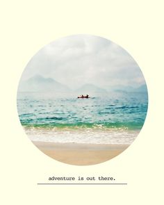 Adventure is Out There Print  Ocean Sea Circle Summer by RFPrints, $20.00