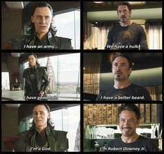 Loki, Tony Stark, Avengers humor - Visit to grab an amazing super hero shirt now on sale! Avengers Humor, Marvel Memes, Marvel Dc, Marvel Funny, Marvel Comics, Loki Funny, L Death, Just In Case, The Avengers