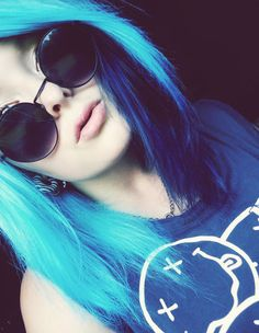 CrazyColor Sininen Shokkihiusväri -Sky Blue   Cybershop