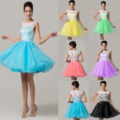 New Short/Mini Prom Party Evening Ball Gown Homecoming Dresses Bridesmaid Formal #GraceKarin #BallGown #Formal