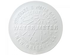 "Our city is below sea level but our imagination when setting the table is above par! Commemorate New Orleans coveted sidewalk stunners with our Watermeter Cover Platter. Use it on your every-day counter tops or as an accent to your family style sit down dinners. Our Adler's Exclusive Watermeter Cover Platter measures 13.75"" in diameter.  Dishwasher safe.  Microwave Safe.  Hand-painted Pottery.  No two alike.  Complies with California Prop 65."