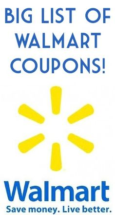 BIG List of Walmart Printable Coupons