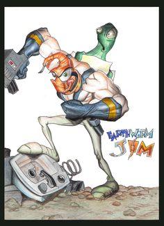 Earthworm Jim by monx-art.deviantart.com on @DeviantArt