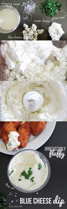 An irresistibly fluffy blue cheese dip! With the playoff season upon us and the Super Bowl just around the corner, hot wings and other finge...