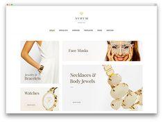 23 Jewelry WordPress Themes For eCommerce Sites 2020 - Colorlib Fashion Wordpress Theme, Minimalist Jewelry, Minimalist Fashion, Tumblr Fashion, Shop Front Design, Dog Recipes, Salon Design, Toddler Preschool, Jewelry Stores