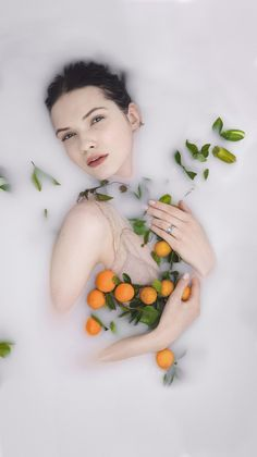 Our Love Be So S/S 2015 Erstwhile Campaign - Milk Bath - Engagement Rings - Flower Fashion Photoshoot - Ophelia in a flower bath