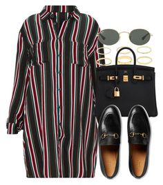 """#14781"" by vany-alvarado ❤ liked on Polyvore featuring Hermès, Gucci and Ray-Ban"
