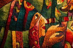. Detail. Hand Woven Tapestry, Peruvian Tapestry by Máximo Laura. Alpaca, cotton and mixed fibers. #Women #Art #TapestryArt #Peru #WeavingTapestry #PerúTextiles