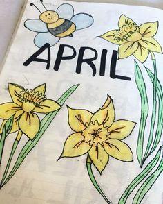(@majafilipovic7) on Instagram: Bullet Journal title page for April