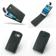 PDair Leather Case for Samsung Galaxy Trend 3 SM-G3502 - Flip Top Type (Black)