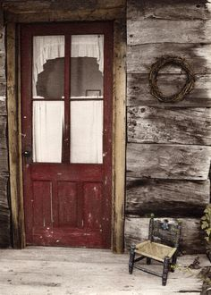 Love this red door...You really do not see doors like this anymore.