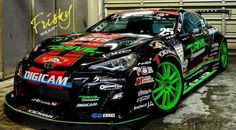A MEGA cool race prepped black toyota 86