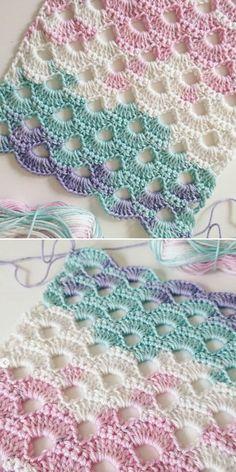 Modern Crochet Patterns, Crochet Square Patterns, Crochet Stitches Patterns, Crochet Motif, Crochet Designs, Free Crochet, Knitting Patterns, Cross Stitches, Loom Patterns