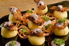 causa peruana, comida, receita, prato, peru, típico, batata, polvo
