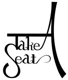 Image a gorgeous logo designed by Japanese artist for our Take A Seat international event (IFDA)