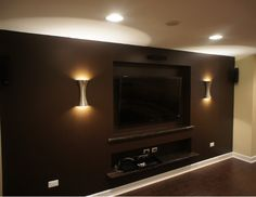 Basement/ man cave ideas. Love this a lot. love the lights