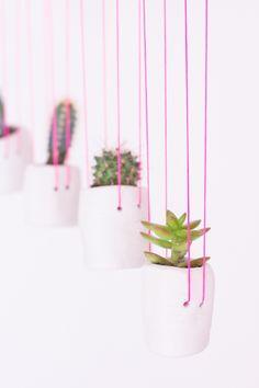Hanging Clay Planters DIY