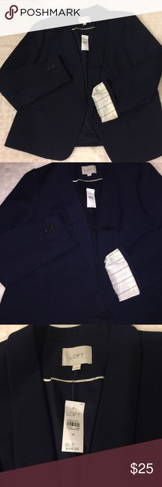 LOFT blazer NWT in navy New with tags. 15% off bundles! LOFT Jackets & Coats Blazers
