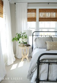A Light and Bright Townhome - Guest Bedroom - Dear Lillie St.- A Light and Bright Townhome – Guest Bedroom – Dear Lillie Studio A Light and Bright Townhome – Guest Bedroom – Dear Lillie Studio - Cozy Bedroom, Dream Bedroom, Bedroom Apartment, Cottage Bedrooms, Cottage Bedroom Decor, Guest Bedroom Decor, Bedroom Country, Bedroom Green, White Bedroom