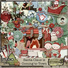 "December 2014:  The Studio's Annual Blog Train ""Christmas Carol""   ScrapAwhile At Studio4"