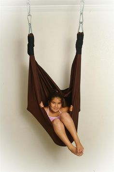 The Snuggle Swing will provide the child with vestibular stimulation as well as deep pressure.