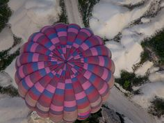 Top-down view on a Balloon, Cappadocia, Turkey.