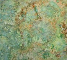 Ice Dyed  Fabric, Hand Dyed Quilt Cotton, Woodland Splendor, 1 Yard (LS). $15,95, via Etsy.