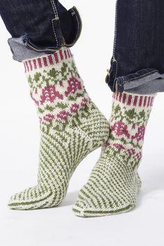 Nordic Yarns and Design since 1928 Crochet Socks, Knit Mittens, Knit Or Crochet, Knitting Socks, Hand Knitting, Knitting Patterns, Slipper Socks, Slippers, How To Start Knitting
