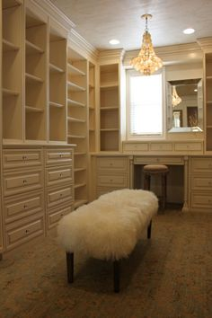 If you're dreaming of a luxury walk-in closet in your home, you're definitely not alone. Visit our gallery of luxurious walk-in closet designs. Built In Vanity, Home, Closet Shelves, Closet Bedroom, Interior, House, Dream Closets, House Interior, Closet Vanity