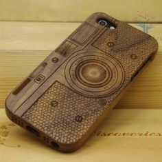 Natural Wood iPhone 4 Case  Engraved Camera Case by MiniPocket2012, $22.99