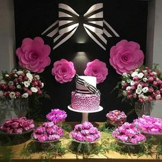 New baby shower flowers theme dessert tables Ideas Bridal Shower Decorations, Birthday Party Decorations, Party Themes, Birthday Parties, Cake Birthday, Ideas Party, Birthday Ideas, Table Decorations, Kate Spade Party