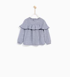 GINGHAM CHECK SHIRT WITH FRILL-TOPS-BABY GIRL | 3 months - 4 years-COLLECTION SS/17 | ZARA United States