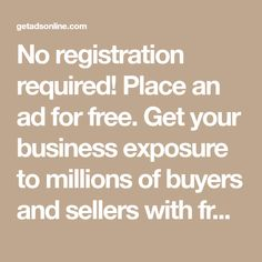 No registration required! Place an ad for free. Get your business exposure to millions of buyers and sellers with free classified ads. Car Buying Guide, Ad Home, Bmw Alpina, Bmw I3, Post Free Ads, Used Audi, Torque Converter, Free Classified Ads, Ignition Coil