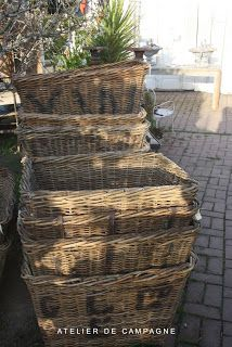 We& had a couple of pretty exciting weeks! First there was the exhilaration and nervousness about receiving our . French Baskets, Old Baskets, Vintage Baskets, Wire Baskets, Picnic Baskets, Rattan Basket, Basket Bag, Wicker Trunk, Natural Weave