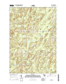 ~ Banat MI topo map, 1:24000 scale, 7.5 X 7.5 Minute, Historical, 2014