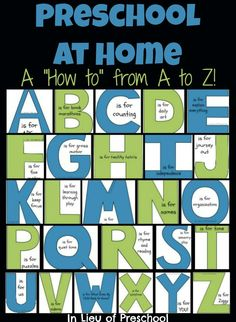 How to Home Preschool - In Lieu of Preschool (Lots of good ideas for a formal home preschool or just an education minded momma!)
