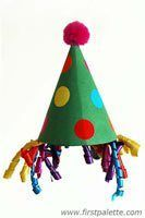 Clown Hat craft for Circus theme Clown Crafts, Carnival Crafts, Hat Crafts, Easy Crafts For Kids, Toddler Crafts, Circus Theme Crafts, Craft Kids, Preschool Circus Theme, Simple Crafts