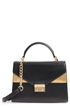 MICHAEL KORS MEDIUM SLOAN LEATHER SHOULDER BAG - BLACK. #michaelkors #bags #shoulder bags #leather #