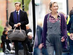 Upcoming Bridget Jones: Coline Firth with Renee Zelleweger showing off her characters prominent baby bump