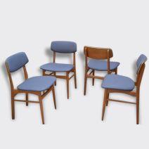 Série de quatre chaises Danoises