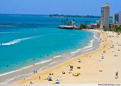 Isla Verde - San Juan, Puerto Rico. Oh Puerto Rico...I'll see YOU in July!!! :D!!! Can't wait!