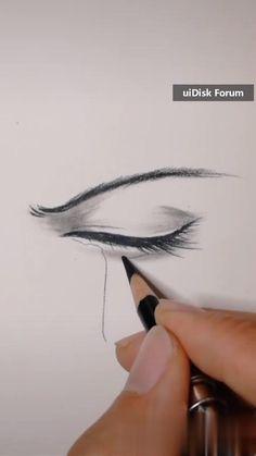 3d Art Drawing, Art Drawings For Kids, Art Drawings Sketches Simple, Pencil Art Drawings, Eye Drawing Tutorials, Drawing Techniques, Art Tutorials, Art Drawings Beautiful, Diy Canvas Art