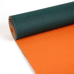 Tapis de yoga vert/orange
