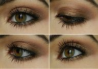 Eyes- bronze and black pencil   #makeup www.finditforweddings.com