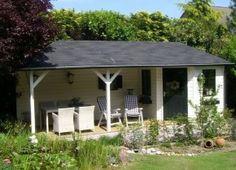 Tuinhuis met veranda.. Geweldig!